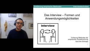 Thumbnail - 8. Sitzung: Interview als soziale Kommunikation - Teil 1