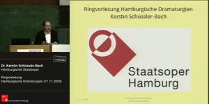 Miniaturansicht - 11.11.2009, Dr. Kerstin Schüssler-Bach, Staatsoper Hamburg, Leitende Dramaturgin