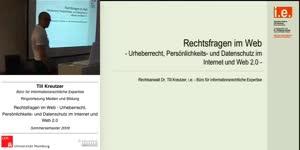 Thumbnail - Rechtsfragen im Web - Urheberrecht, Persönlichkeits- und Datenschutz im Internet und Web 2.0
