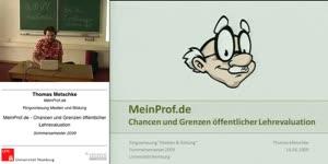 Thumbnail - MeinProf.de - Chancen und Grenzen öffentlicher Lehrevaluation