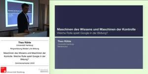 Thumbnail - Maschinen des Wissens und Maschinen der Kontrolle. Welche Rolle spielt Google in der Bildung?