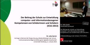 Miniaturansicht - Der Beitrag der Schule zur Entwicklung Computer- und informationsbezogener Kompetenzen von Schülerinnen und Schülern (ICILS)
