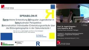 Miniaturansicht - prabilon-R – Sprachliche Entwicklung bilingualer Jugendlicher in longitudinaler Perspektive: Retrospektiv