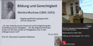 Miniaturansicht - Bildung und Gerechtigkeit: Martha Muchow (1892-1933)