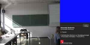 Miniaturansicht - Sitzung 2: Vertiefungsseminar zur Sozialpsychologie - Prosoziales Verhalten