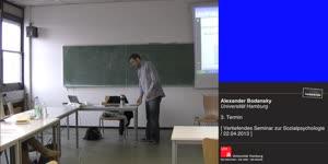 Miniaturansicht - Sitzung 3: Vertiefungsseminar zur Sozialpsychologie - Prosoziales Verhalten