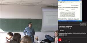Miniaturansicht - Sitzung 4: Vertiefungsseminar zur Sozialpsychologie - Prosoziales Verhalten