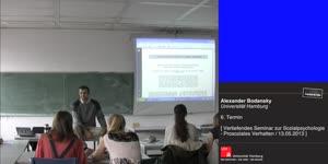 Miniaturansicht - Sitzung 6: Vertiefungsseminar zur Sozialpsychologie - Prosoziales Verhalten