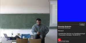 Miniaturansicht - Sitzung 8: Vertiefungsseminar zur Sozialpsychologie - Prosoziales Verhalten