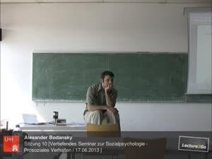 Miniaturansicht - Sitzung 10: Vertiefungsseminar zur Sozialpsychologie - Prosoziales Verhalten