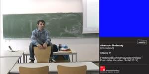 Miniaturansicht - Sitzung 11: Vertiefungsseminar zur Sozialpsychologie - Prosoziales Verhalten