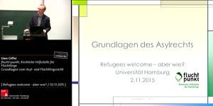 Miniaturansicht - Grundlagen zum Asyl- und Flüchtlingsrecht