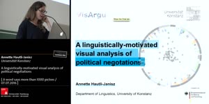 Vorschaubild - A linguistically-motivated visual analysis of political negotations