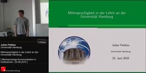 Thumbnail - Mehrsprachigkeit in der Lehre an der Universität Hamburg