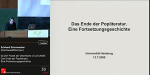 Vorschaubild - Das Ende der Popliteratur. Eine Fortsetzungsgeschichte