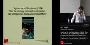 Miniaturansicht - Lagrimas de luz / Lichttränen (1984): Über die Dichtung im Krieg fremder Welten