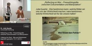 Miniaturansicht - Reflecting on War - Pressefotografie zwischen Dokumentation und Manipulation