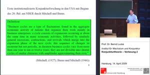 Miniaturansicht - (2) Konjunkturtheorie