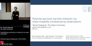 Miniaturansicht - Quantifying uncertainty in Antarctic ice sheet  instability