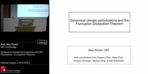Miniaturansicht - Dynamical Climate Perturbations and the Fluctuation - Dissipation Theorem