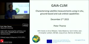 Miniaturansicht - GAIA-CLIM: Improving the usefulness and utility of non-satellite data for satellite characterisation