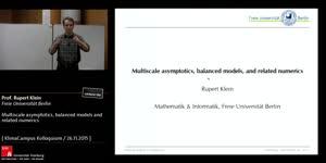 Miniaturansicht - Multiscale asymptotics, balanced models and related numerics