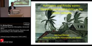 Miniaturansicht - Hurricanes and Rossby waves: Dynamics and predictability in the middle latitudes