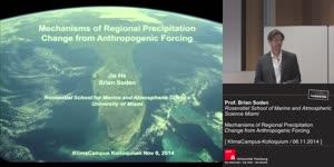 Miniaturansicht - Mechanisms of Regional Precipitation Change from Anthropogenic Forcing