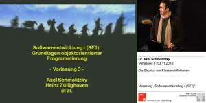 Miniaturansicht - SE1, Vorlesung 3- Die Struktur von Klassendefinitionen (03.11.2010)
