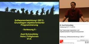Miniaturansicht - SE1, Vorlesung 5- Das Typkonzept imperativer und objektorientierter Programmiersprachen (17.11.2010)