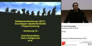 Miniaturansicht - SE1, Vorlesung 10- Arrays (05.01.2010)