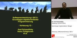 Miniaturansicht - SE1, Vorlesung 12- Sammlungen implementieren: Mengen(19.01.2011)