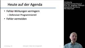 Thumbnail - 2.1 Fehler, Korrektheit, Defensiver Programmierstil
