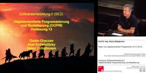 Miniaturansicht - OOPM, Vorlesung 13- Testen von objektorientierten Programmen (07.07.2010)