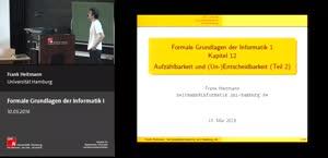 Miniaturansicht - 12 - Aufzählbarkeit und (Un-)Entscheidbarkeit Teil 2 und Wiederholung der ersten 12 Vorlesungen