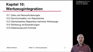 Vorschaubild - 10.1 Werkzeugintegration - Ziele und Herausforderungen