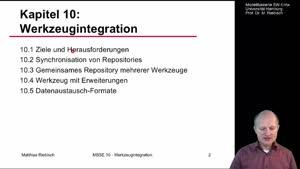 Miniaturansicht - 10.2 Synchronisation von Repositories / 10.3 Gemeinsames Repository mehrerer Werkzeuge