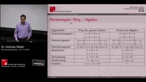 Miniaturansicht - 8 - Rechenregeln: Ring/Algebra
