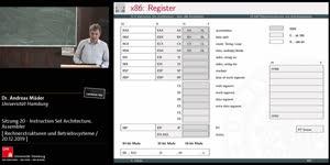 Miniaturansicht - Sitzung 20 - Instruction Set Architecture, Assembler