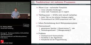 Miniaturansicht - Sitzung 24 - Rechnerarchitektur II (Parallelität, Speicherhierarchie)