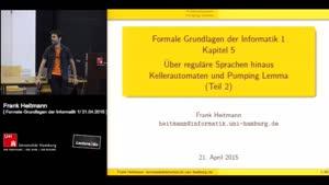 Miniaturansicht - 5. - Über reguläre Sprachen hinaus - Kellerautomaten und Pumping Lemma (Teil 2)