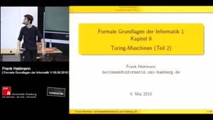 Miniaturansicht - 9 - Turing-Maschinen (Teil 2)
