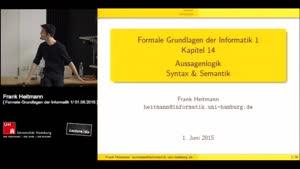 Miniaturansicht - 14 - Aussagenlogik / Syntax & Semantik