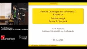 Miniaturansicht - 20 - Prädikatenlogik, Syntax und Semantik