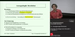 Miniaturansicht - 13 - Aussagenlogik - Resolution