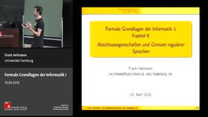 Miniaturansicht - 6 - Abschlusseigenschaften & Grenzen regulärer Sprachen