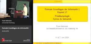 Miniaturansicht - 17 - Prädikatenlogik Syntax & Semantik