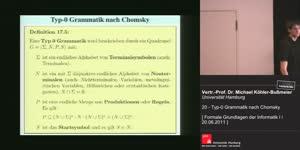 Miniaturansicht - 20 - Typ-0 Grammatik nach Chomsky