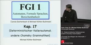 Miniaturansicht - 19 - Deterministischer Kellerautomat, andere Chomsky Grammatiken