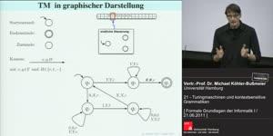 Miniaturansicht - 21 - Turingmaschinen und kontextsensitive Grammatiken